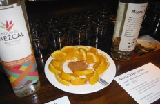 Traditional Mezcal Companion:  Oranges and Salt Con Gusano